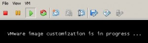"""VMware image customization is in progress"" Meldung"